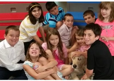 sunday School meets the Comfort Dogs