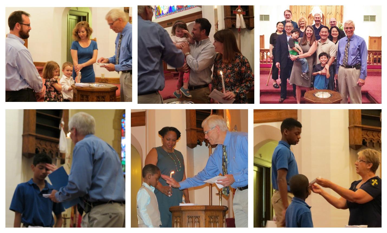 Eight baptisms