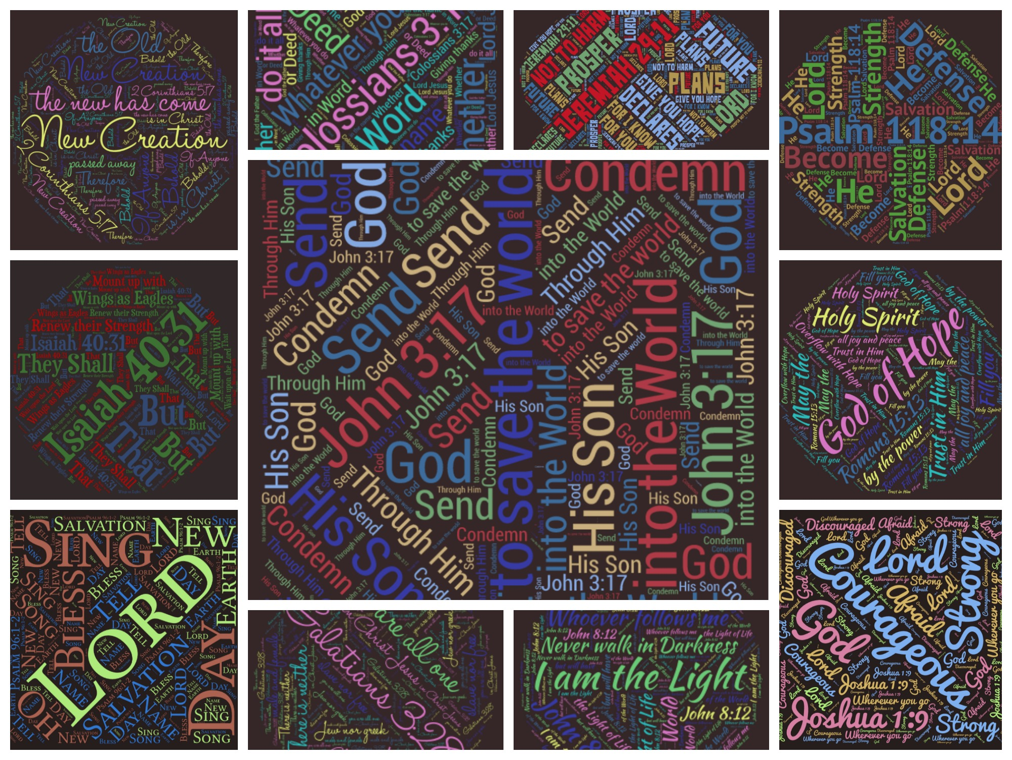 word bebbles collage